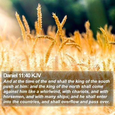 Daniel 11:40 KJV Bible Verse Image