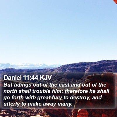 Daniel 11:44 KJV Bible Verse Image