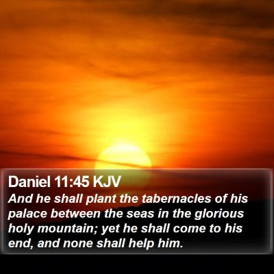 Daniel 11:45 KJV Bible Verse Image