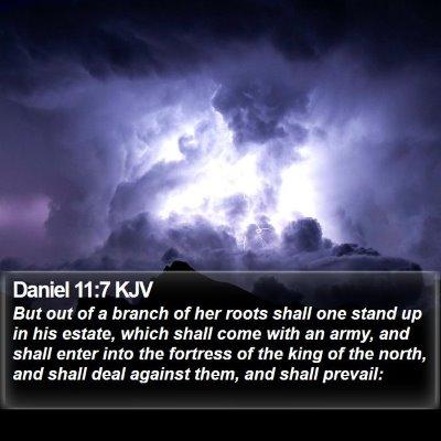 Daniel 11:7 KJV Bible Verse Image