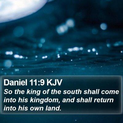 Daniel 11:9 KJV Bible Verse Image