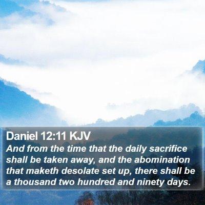 Daniel 12:11 KJV Bible Verse Image