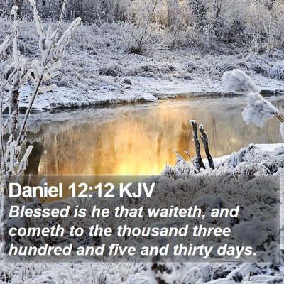 Daniel 12:12 KJV Bible Verse Image