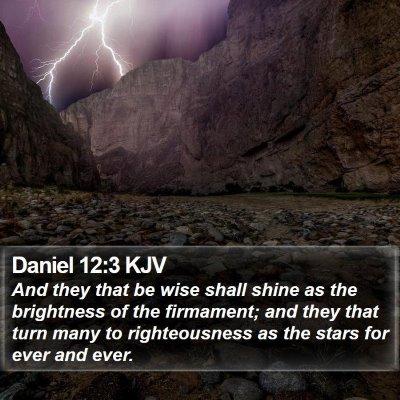 Daniel 12:3 KJV Bible Verse Image
