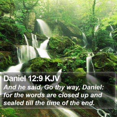 Daniel 12:9 KJV Bible Verse Image