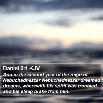 Daniel 2:1 KJV Bible Verse Image