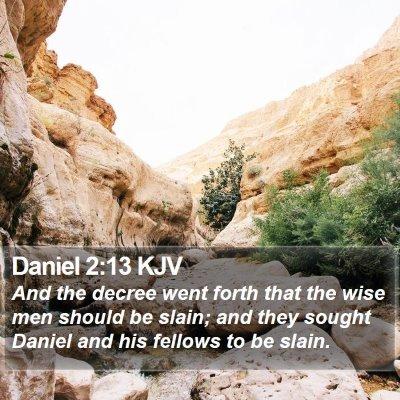 Daniel 2:13 KJV Bible Verse Image