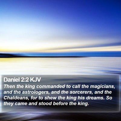 Daniel 2:2 KJV Bible Verse Image