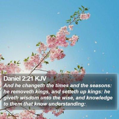 Daniel 2:21 KJV Bible Verse Image