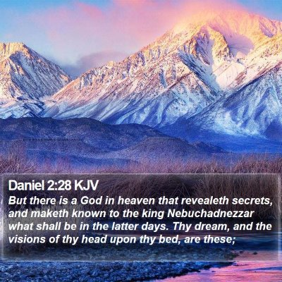 Daniel 2:28 KJV Bible Verse Image