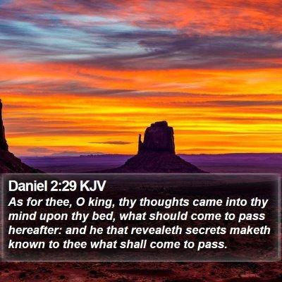 Daniel 2:29 KJV Bible Verse Image