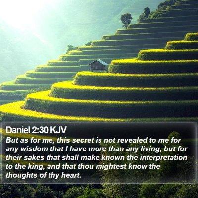 Daniel 2:30 KJV Bible Verse Image