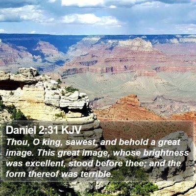 Daniel 2:31 KJV Bible Verse Image