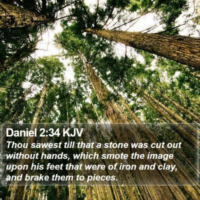 Daniel 2:34 KJV Bible Verse Image