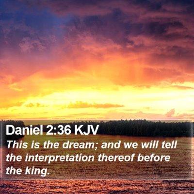 Daniel 2:36 KJV Bible Verse Image