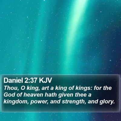 Daniel 2:37 KJV Bible Verse Image