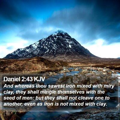 Daniel 2:43 KJV Bible Verse Image