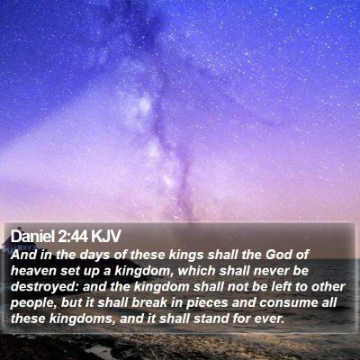Daniel 2:44 KJV Bible Verse Image