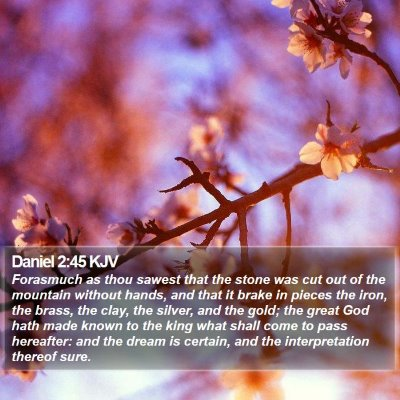 Daniel 2:45 KJV Bible Verse Image
