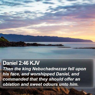 Daniel 2:46 KJV Bible Verse Image