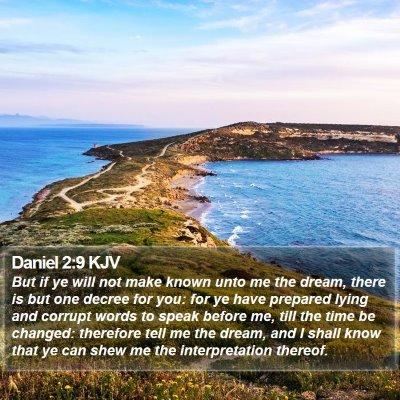 Daniel 2:9 KJV Bible Verse Image