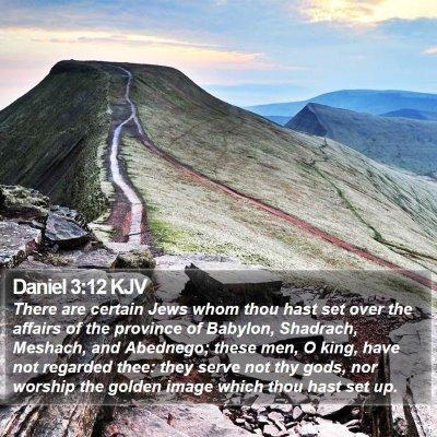 Daniel 3:12 KJV Bible Verse Image