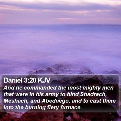 Daniel 3:20 KJV Bible Verse Image