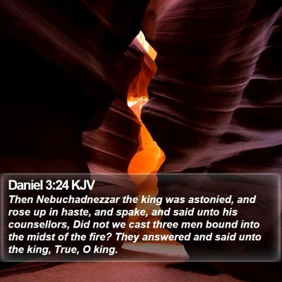 Daniel 3:24 KJV Bible Verse Image