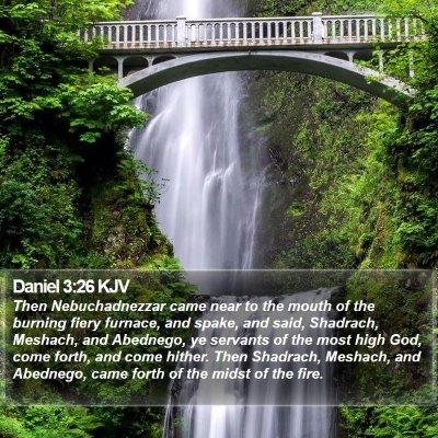 Daniel 3:26 KJV Bible Verse Image