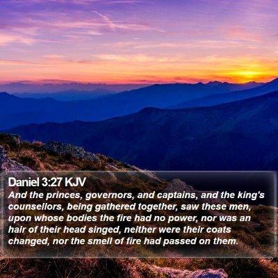Daniel 3:27 KJV Bible Verse Image