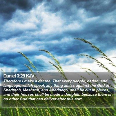 Daniel 3:29 KJV Bible Verse Image