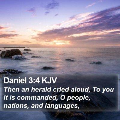 Daniel 3:4 KJV Bible Verse Image