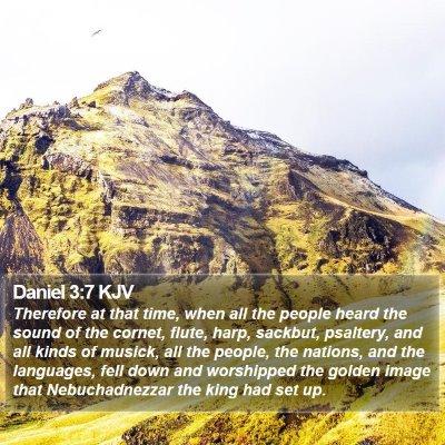 Daniel 3:7 KJV Bible Verse Image