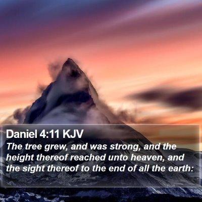 Daniel 4:11 KJV Bible Verse Image