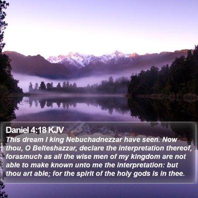 Daniel 4:18 KJV Bible Verse Image