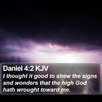 Daniel 4:2 KJV Bible Verse Image