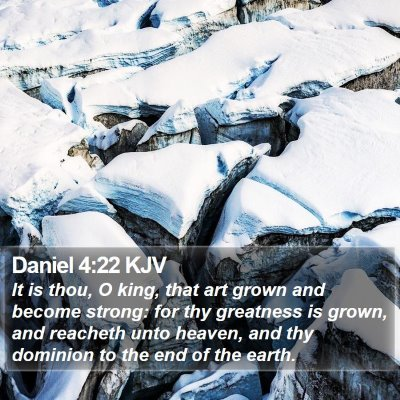 Daniel 4:22 KJV Bible Verse Image