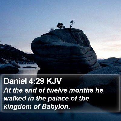 Daniel 4:29 KJV Bible Verse Image