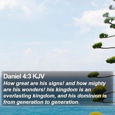 Daniel 4:3 KJV Bible Verse Image