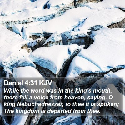 Daniel 4:31 KJV Bible Verse Image