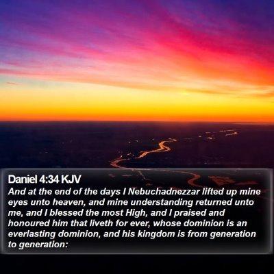 Daniel 4:34 KJV Bible Verse Image