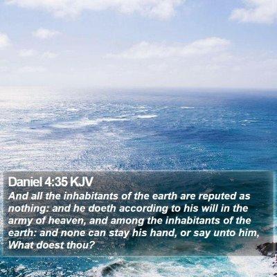 Daniel 4:35 KJV Bible Verse Image