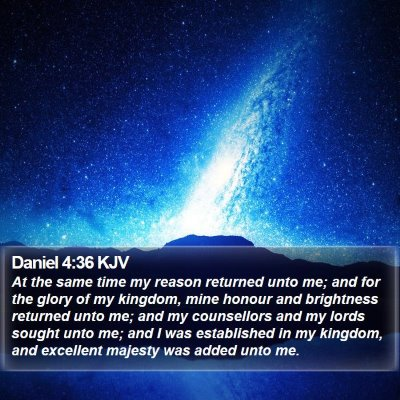 Daniel 4:36 KJV Bible Verse Image
