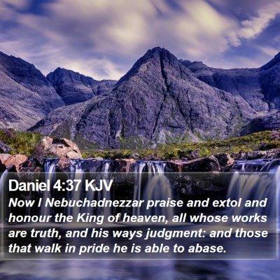 Daniel 4:37 KJV Bible Verse Image