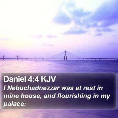 Daniel 4:4 KJV Bible Verse Image
