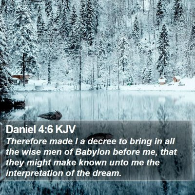 Daniel 4:6 KJV Bible Verse Image