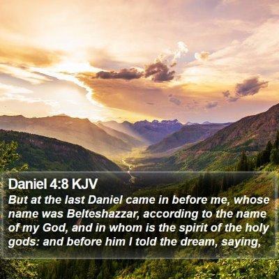 Daniel 4:8 KJV Bible Verse Image