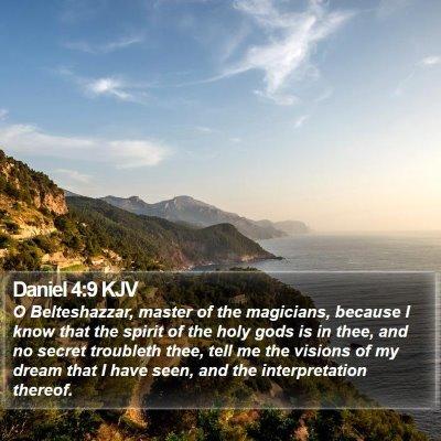 Daniel 4:9 KJV Bible Verse Image