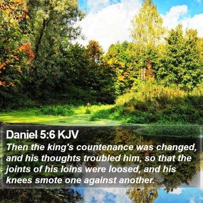 Daniel 5:6 KJV Bible Verse Image