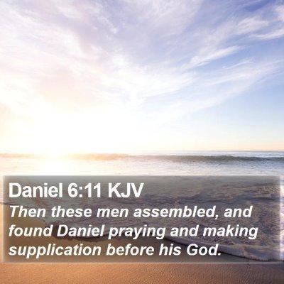 Daniel 6:11 KJV Bible Verse Image